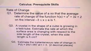 rate of change practice worksheet youtube