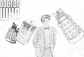 7 free doctor who fan art coloring books plus bonus coloring