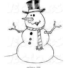 drawn snowman cartoon pencil color drawn snowman cartoon