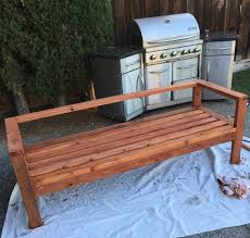ana white redwood 2x4 outdoor sofa diy projects