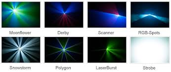 make a laser light style show with a projector and musicbeam