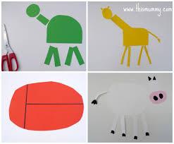 elephant shapes craft animals made out of shapes cilif com