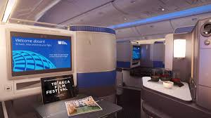 united airlines shows off its new business class product in denver