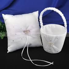 corbeille mariage ensemble de corbeille à fleurs et oreiller de bague de mariage en