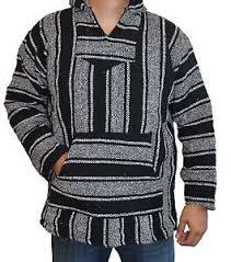 baja sweater xl hoodie baja hippie surfer poncho sweater rug