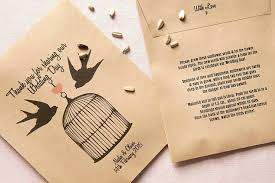 seed packets wedding favors seed packets for wedding favors birds personalised seed