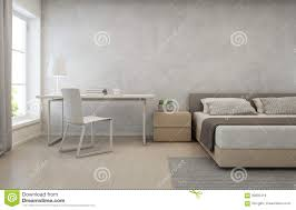 bedroom with concrete wall background in modern house loft