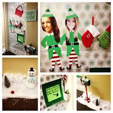 cute and creative christmas decor college dorm door dorm door