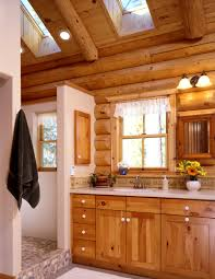 Rustic Bathroom Decor Ideas by Log Home Bathroom Decor Bathroom Log Cabin Design Pictures