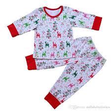 baby pajamas set deer printed children sleepwear striped and