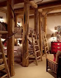 Cabin Bunk Beds Bedroom Rustic With Bunk Beds Wood Bunks Bed Curtains - Rustic wood bunk beds