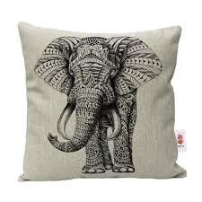 nunubee animal cotton linen cushions cover sofa throw pillow case