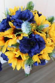 Silk Bridal Bouquets Summer Sunflowers For Minneapolis Wedding U2014 Silk Wedding Flowers