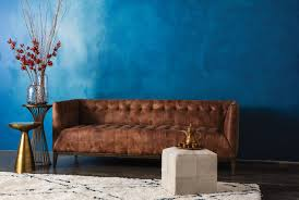 Brown Leather Sofa Living Room Brown Leather Sofa Living Spaces