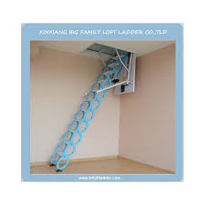 steel telescopic electric attic ladder alloy folding ladder