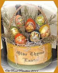 primitive easter eggs primitive olde thyme easter basket pattern primitive easter basket