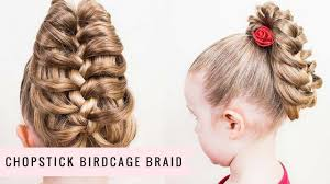 hair plait with chopstick chopstick birdcage braid by sweethearts hair youtube