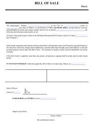free illinois personal property bill of sale form pdf template