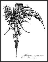 mech tattoo machine biomech skulls pinterest tattoo machine