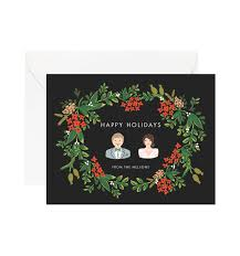 poinsettia garland personalized greetings by rifle paper co