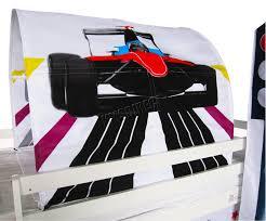 Race Car Bunk Bed Foxhunter Children Wooden Mid Sleeper Cabin Bunk Bed Tent Single