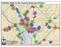 Map Of Dc Metro Map Of 1 2 Mile Walking Distance To Metro Stations Friends Of
