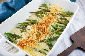 cheesy green bean bake and risotto