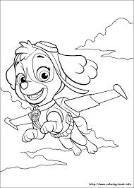 skye paw patrol coloring pages zac party paw