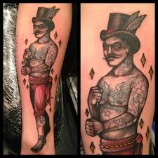fighting tattoo modern violent gentlemen