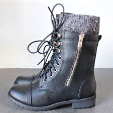 sweater boots the laced up combat sweater boots black from shophearts low
