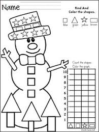 free christmas graph worksheet fun december preschool