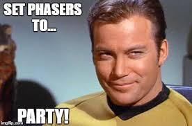 William Shatner Meme - set phasers to party imgflip