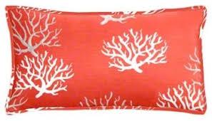 Salmon Coral Lumbar Pillow Set Beach Style Decorative Pillows