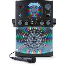 Singing Machine Bluetooth Karaoke System With Led Disco Lights And