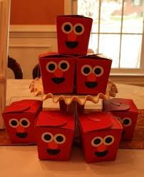 elmo party favors take out containers decorated with the of elmo see