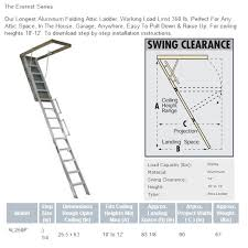 louisville aluminum attic ladder ceiling height 10 ft to 12 ft