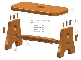 Free Woodworking Furniture Plans Pdf by Practical Stool Plan