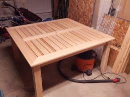 Outdoor Patio Table Plans by Ana White Cedar Patio Table Diy Projects