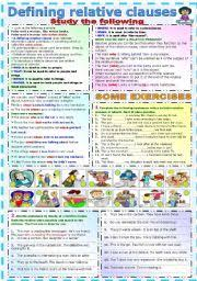 english worksheets relative clauses worksheets