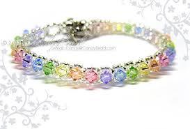 crystal glass bracelet images Rainbow bracelet crystal bracelet swarovski by candybead on zibbet jpg