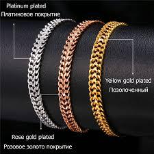 bracelet mesh images U7 bracelet men jewelry gold color wholesale trendy 6mm wide mesh jpg