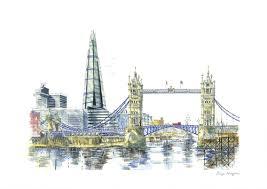 the shard and tower bridge london u2014 bryn hughes award winning