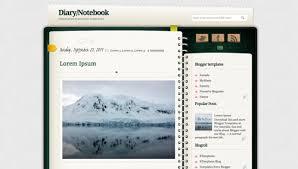 diary notebook blogger template btemplates