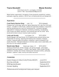 Meat Cutter Job Description Resume by Meat Cutter Resume Template