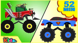 kids monster truck videos scary monster truck war good vs evil monster truck videos for