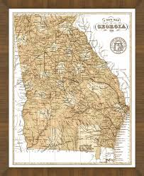 Map Of Ga Old Map Of Georgia U2013 A Great Framed Map That U0027s Ready To Hang