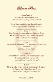 5 course menu template 27 images of 3 course menu template infovia net