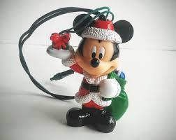 vintage mickey mouse ornaments etsy