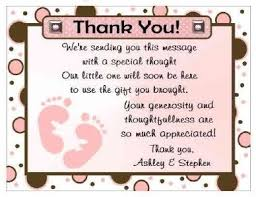 thank you cards baby shower interesting idea what to write in baby shower thank you card