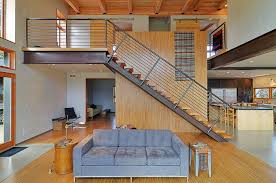 inspired open tread staircase in staircase contemporary with loft